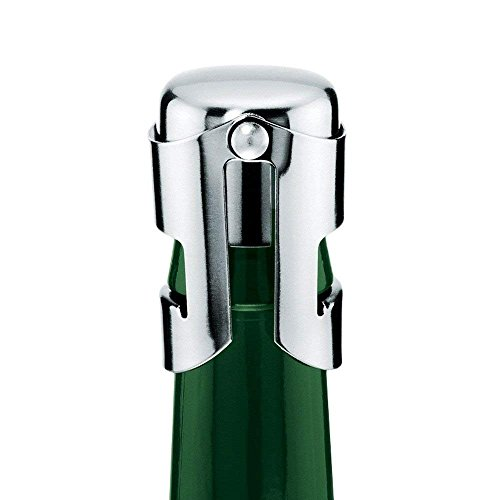 2er Set Cosmo Sektflaschenverschluss Edelstahl - Cleverer Vakuum Flaschenverschluss für Champagner und Sekt Flaschen Verschluss