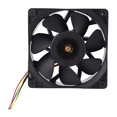 Moligin Ventilador de refrigeración sin escobillas silencioso de 2 Clavijas con Ventiladores sin escobillas 12V 2.7A para Piezas de impresoras 3D Frescas 12 * 12 cm (1pcs)