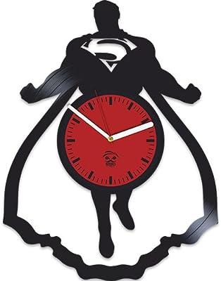 Kovides Superman Clock, Returns, Vinyl Wall Clock, Birthday Gift, Home Decor,