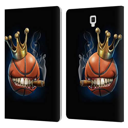 Head Case Designs Oficial Tom Wood Rey del Baloncesto Monstruos Carcasa de Cuero Tipo Libro Compatible con Galaxy Tab S4 10.5 (2018)
