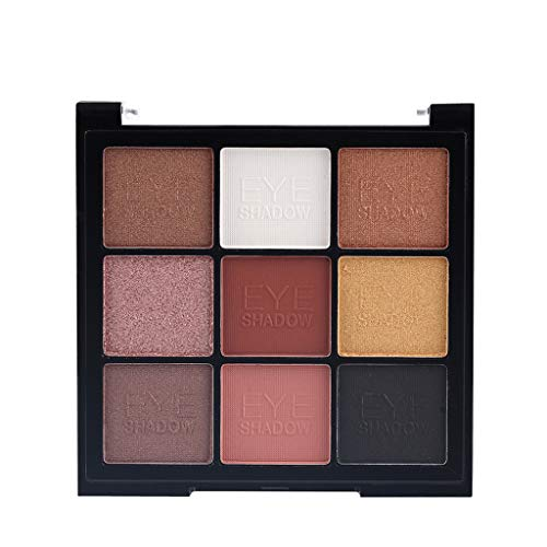 Beste oogschaduwpalet oogschaduw make-up cosmetica warme natuurlijke kleuren in matte glans miss roos 9 kleuren parel licht mat oogschaduw bling bling oogschaduw make-up A-linie A A