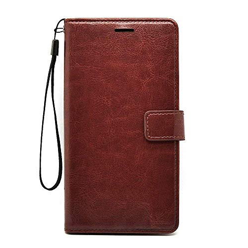 Avzax® PU Leather HTC Desire Eye Flip Cover [Magnetic Closure] | Inner TPU | Foldable Stand Function | Cards & Cash Slots for HTC Desire Eye (Executive Brown)