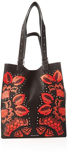 Desigual Damen Bag Gemini Colorado Umhängetasche, Schwarz (NEGRO), 36x16x31 cm
