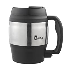 BPA-free large capacity coffee mug Dual-walled polyurethane with foam insulation Keeps cold beverages cold and hot beverages hot for hours Tough and durable construction featuring ergonomically designed handle with soft touch grip Iconic patented keg...