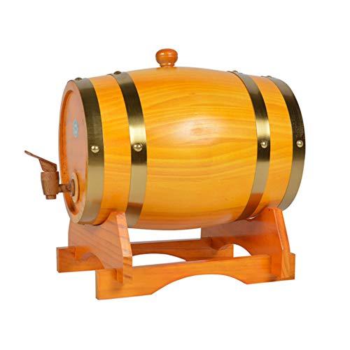 HWhome 3L/5L/10L/20L/30L Barril De Roble, Barril De Roble De Madera Vintage For La Vinificación O Almacenamiento Cerveza Whisky Ron, Apto For Bares(Botellero Gratis)(Size:10L)