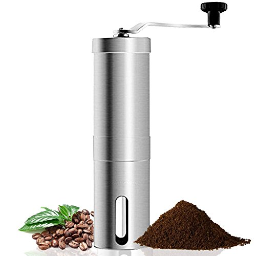 Coffee Grinder, Aessdcan Manual Coffee Mill, Mini Portable Home Kitchen Travel Coffee Bean Grinder with Adjustable Ceramic Core