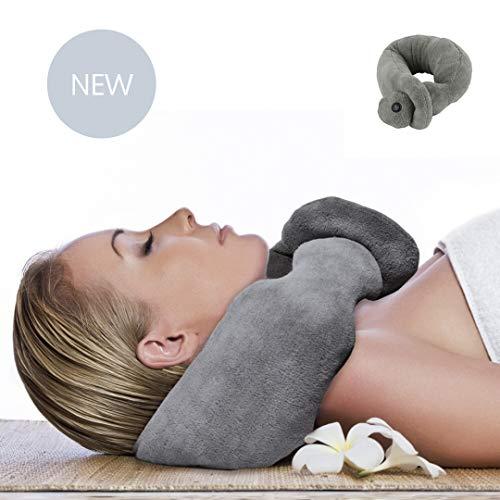 LNG Nackenkissen, vibrierend, Reisekissen, Memory-Schaum mit Vibration zur Massage Ihres Nackens im Flugzeug, im Zug, im Auto und zu Hause