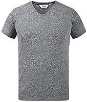 !Solid Alarus Camiseta Básica De Manga Corta T-Shirt para Hombre con Cuello De Pico