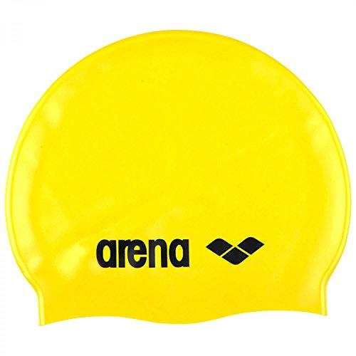 Arena Clásico Silicona Amarillo Gorras De Natación