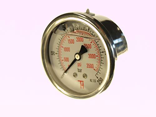 THERMIS Manometer 358G 1/4 Anschluss von hinten (0 – 250 bar) 63 mm