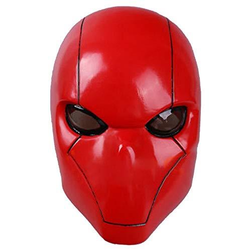 Rote Kapuze Batman Maske Erwachsene Wayne Cosplay Voller Kopf Helm PVC Maske Atmungsaktive Mann Erwachsene Halloween Party Requisiten