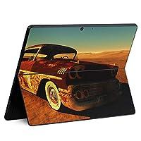 igsticker Surface Pro X 専用スキンシール サーフェス プロ エックス ノートブック ノートパソコン カバー ケース フィルム ステッカー アクセサリー 保護 008265 写真・風景 写真 車 砂漠 空
