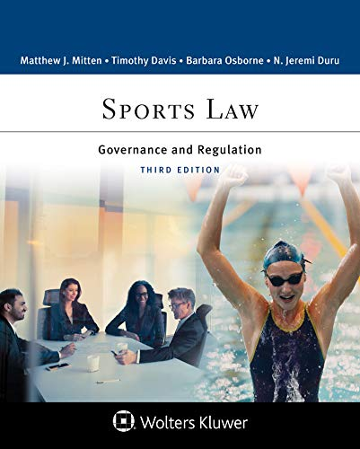 Sports Law: Governance and Regulation (Aspen College Series) (English Edition)