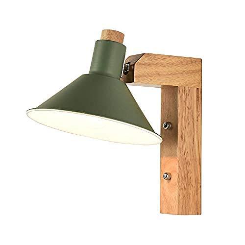 Lámpara de pared, decoración Lámpara de pared de personalidad creativa nórdica dormitorio minimalista moderno lámpara de cabecera sala de estar pasillo pasillo E27 Bombilla LED @D: verde