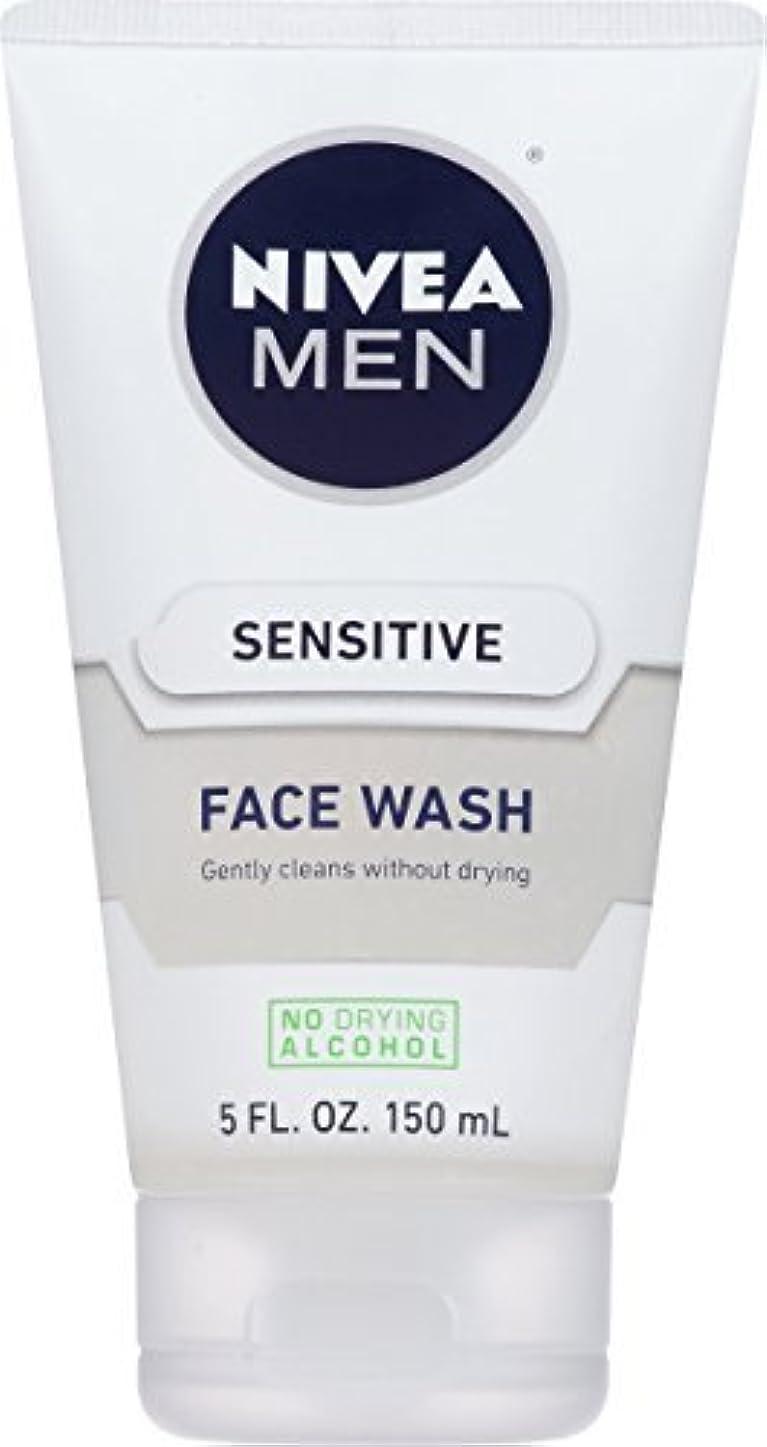 たぶんデコラティブ住居NIVEA Men Sensitive Face Wash 5 Fluid Ounce [並行輸入品]