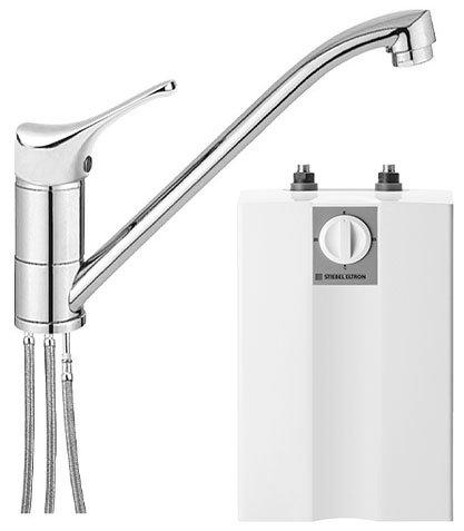 Stiebel Eltron Boiler Warmwasserspeicher Untertisch 5 Liter mit Niederdruck Armatur