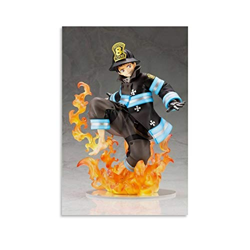 Apeiyu Fire Force - Shinra Kusakabe ARTFX J Figure Poster Decorative Painting Canvas Wall Art Living Room Posters Bedroom Painting 16x24inch(40x60cm)