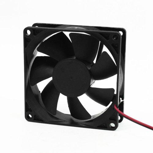 Viudecce Ventilador de Refrigeracion CC 12V 80mm Cuadrado Plastico Negro para Caja de Computadora PC