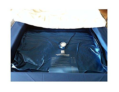 Einzelne Mesamoll2® Wasserbettmatratze 90x200 cm Wasserkern Wassermatratze für DUAL Softside Wasserbett, Außenkante Schaumstoff 180x200 cm (F6 100% Beruhigung)