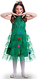 0f7c2379ec Costume da Albero di Natale Vestito per bambina M-(7/9 anni)