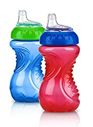 professional Nuby 2 Piece Easy Grip Trainer Cup 10oz, Blue / Red