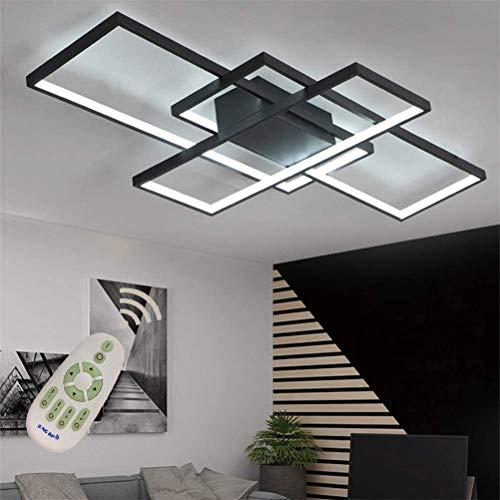 Luces de techo LED interior LED moderno Luz de techo Flush Mount Square Lámpara de sala de estar regulable con control remoto Acrílico Lámpara de araña Colgante de iluminación para comedor Dormitorio