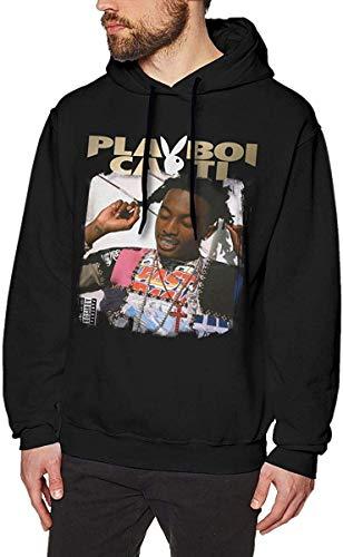 Henrnt Sudadera con Capucha Playboi Carti Men's Fashion Long Sleeve Sweatshirt Drawstring Pullover Hoodies