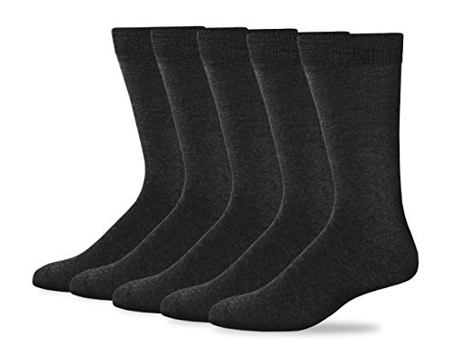 Dockers Men's Classics Dress Flat Knit Crew Socks Multipacks, Charcoal Assorted, Shoe 6-12 Size: 10-13
