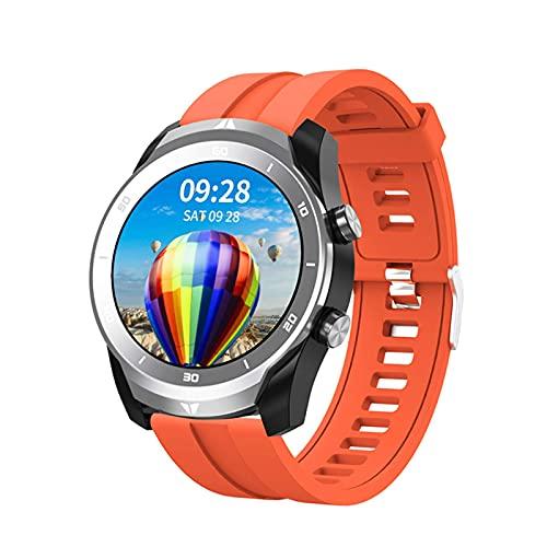 G&UWEI Smart Watch for Women Men, Activity Fitness Trackers Presión Arterial/Ritmo Cardíaco/Monitor De Sueño Paso Contador Smartwatch para Android iOS,Naranja