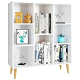 Homfa Librería Estantería Blanca Mueble Auxiliar Madera para Salón Dormitorio...