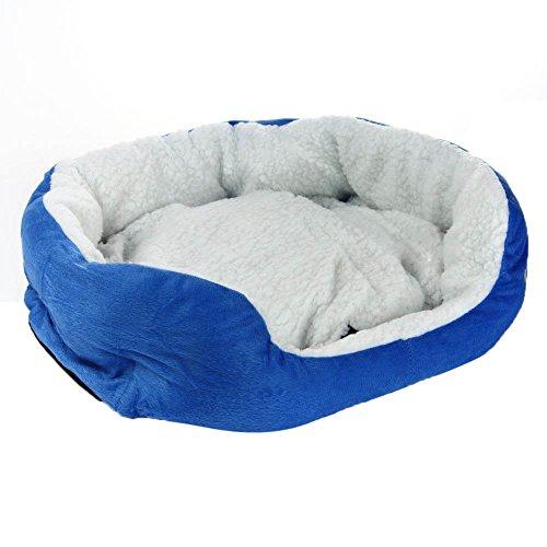 Haibei Animale domestico Letto Unico Divano Letto Morbido Cotone Vello Staccabile Cuscino Calda Morbido per Animale Domestico Gatto Cane Cucciolo (Azzurro)
