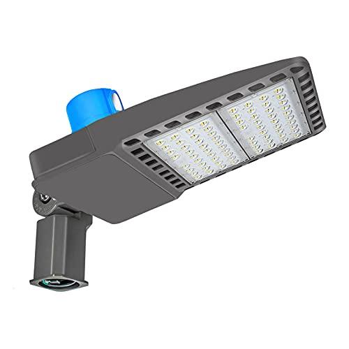 Britelumen 300W LED Parking Lot Light, LED Pole Light 39000Lumens ETL Listed, Waterproof IP65 LED Shoebox Area Light 100-277V 5500K Daylight White for Outdoor Commercial Lighting(300W Slip Fit)