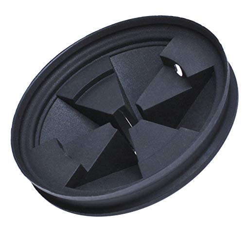 Podoy Disposal Splash Guard Garbage Stopper for Compatible with InSinkErator Black Rubber Quiet Collar Sink Baffle QCB-AM Evolution