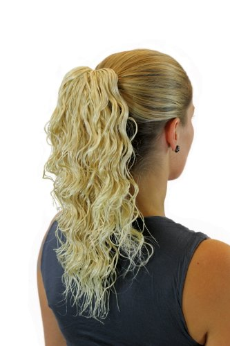 WIG ME UP - JL-4005-24BT613 Extension/natte ondulée mi-longue (40 cm) pince-papillon mélange de blond