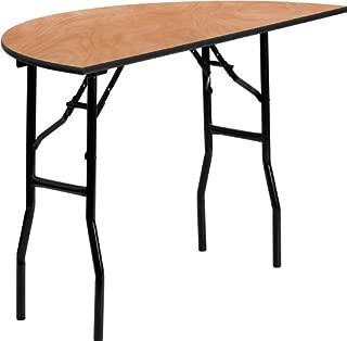 Flash Furniture 48'' Half-Round Wood Folding Banquet Table