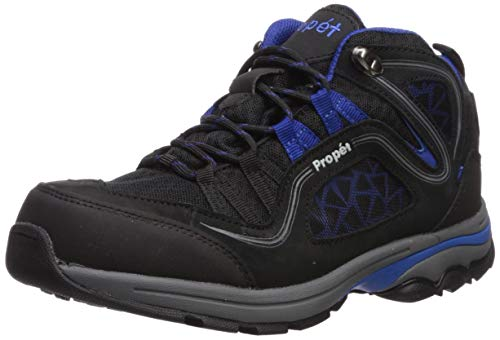 Propét Women's Peak Hiking Boot, Black/Royal Blue, Numeric_7_Point_5