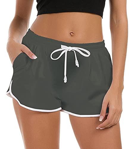 Fanient Damen Badeshorts Lustige 3D Druck Yoga Running Gym Sportswear Schlaf Pyjamas Shorts Strandhose Schwimmen Shorts M