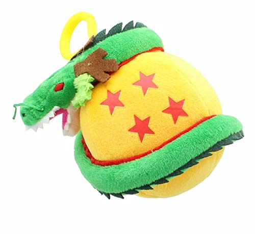 Toynk Dragon Ball Z 5-Inch Shenron Plush Backpack Clip