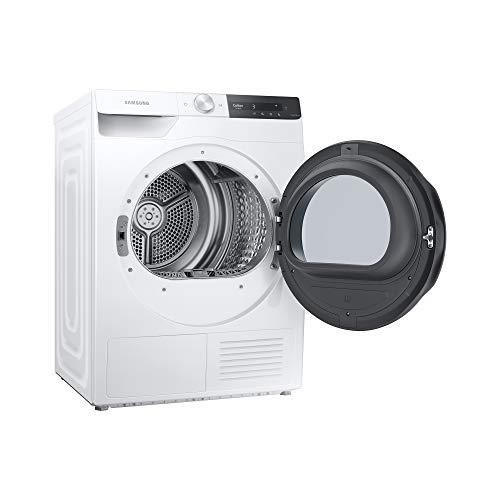 Samsung Asciugatrice DV80T7220BT/S3 con AI Control, Asciugatura Ultra-Veloce in 81 minuti, Igienizzante, Air Wash, Prevenzione Pieghe, Tecnologia Optimal Dry, Filtro 2 in 1, Bianco, Oblò Nero