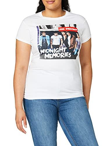 One Direction ONEDTEE70LSW02 - Camiseta de Manga Corta para Mujer, Color Blanco, Talla Medium