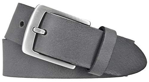 Bernd Götz Herren Leder Gürtel 35 mm Ledergürtel Jeansgürtel Herrengürtel kürzbar (95 cm, Grau)
