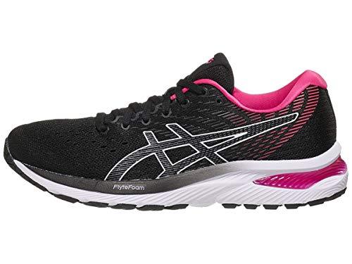 ASICS Women's Gel-Cumulus 22 Running Shoes, 6.5M, Black/Pink GLO