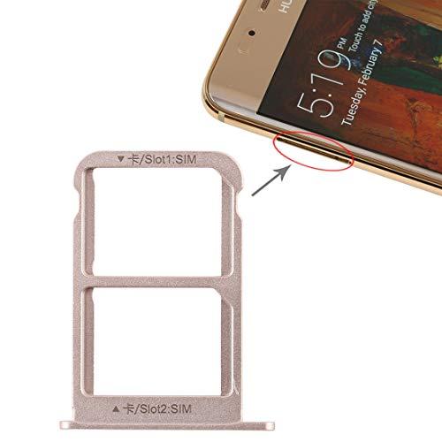 JIALI móviles piezas de repuesto de teléfono Bandeja de la ranura del sostenedor de la bandeja portátil adaptador de tarjeta SIM + bandeja de tarjeta SIM for Huawei mate 9 Pro (Grey) ( Color : Gold )