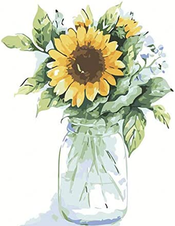 Sunflowers Paint by Numbers for Adults Kids Kits Easy for Beginners DIY Art Craft Paintings product image