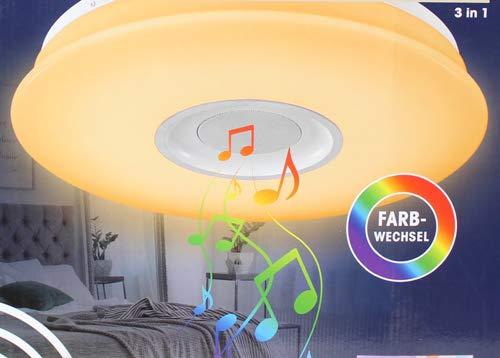 Preisvergleich Produktbild Deckenleuchte,  LED - mit Bluetooth Lautsprecher 3 in 1 Deckenlampe - Partyleuchte & Musiklautsprecher