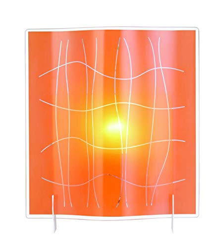 Sûlion Lineas Wandlamp, Helder/Oranje, Transparant
