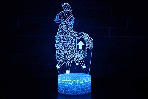 3D Lampe LED Licht 3D Illusion Lampe Nachtlicht Dekoratives 7 Farben Schalter von Smart Touch Button&Remote&USB-Kabel Kreative Dekorationen Zebra für Kinder Baby Boy Geburtstag Weihnachtsgeschenk