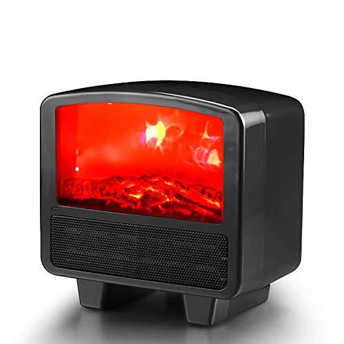 XIANGAI Calefactor Pequeños electrodomésticos Calentador eléctrico Mini Ventilador portátil Calentador de Espacio útil del Calentador del hogar con LED Realista Efecto de la Llama 1000 W overheati.