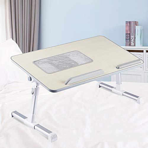 Portátil,Ajustable Standing Desk,Plegable,Bandeja De Desayuno Titular De La Lectura Para Niños De La Planta Del Saco-Madera 52x30x24-32cm