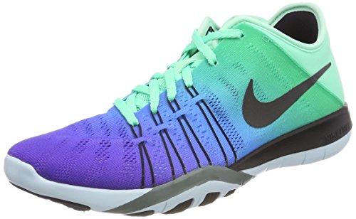 Nike Damen WMNS Free TR 6 SpectrumTrainingschuhe Laufschuhe, Blau (Grünes Glühen/Gletscherblau/Hasta/Schwarz), 40.5 EU